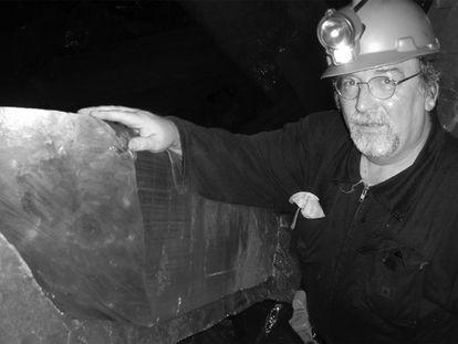 Juan Manuel García Ruiz, en la mina de Naica.