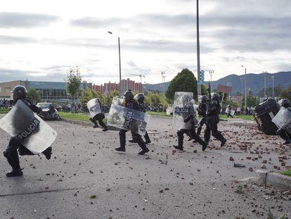 Aunque el Comité Nacional del Paro había suspendido las movilizaciones, en algunos lugares de Colombia continuaron las protestas. La imagen corresponde a Bogotá.