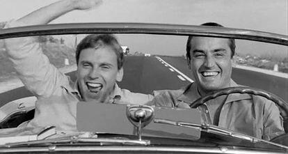 Vittorio Gassman y Jean-Louis Trintignant en 'La escapada' (1962).