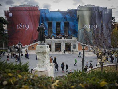 Fachada lateral del Museo del Prado.