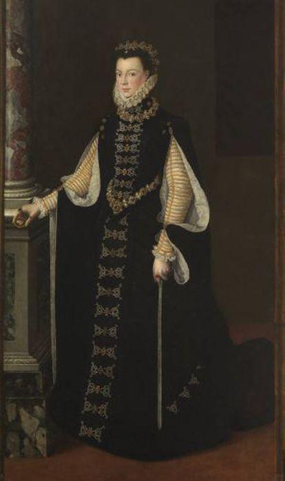 Retrato de la reina Isabel de Valois atribuido a Sofonisba Anguissola.