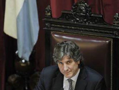 El vicepresidente de Argentina, Amado Boudou, asegura ser blanco de una campaña de opositores que buscan afectar al Gobierno. Boudou fue imputado en abril pasado en el marco de una denuncia por enriquecimiento ilícito. EFE/Archivo