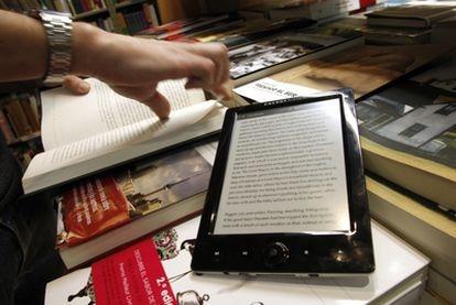 Un lector de libros electrónicos.