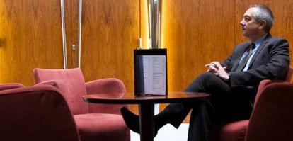 Pere Navarro, durante la entrevista, realizada el pasado viernes