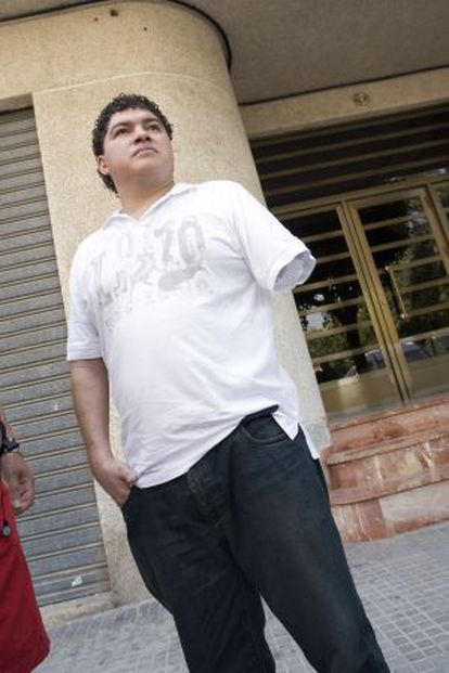 Franns Rilles Melgar, que perdió un brazo en una panificadora de Gandia, en una imagen de archivo.