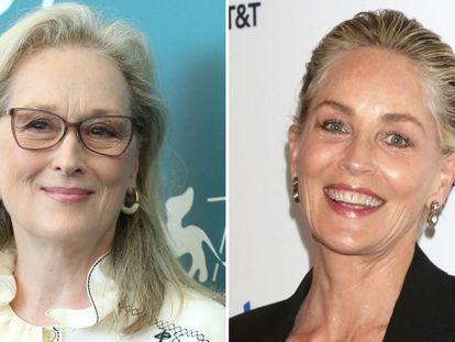 Las actrices Meryl Streep y Sharon Stone, en 2019.