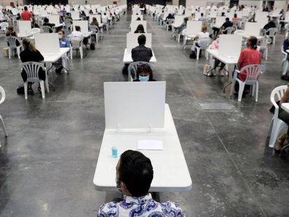 Oposiciones celebradas en Valencia, en septiembre de 2020.KAI FÖRSTERLING/EFE