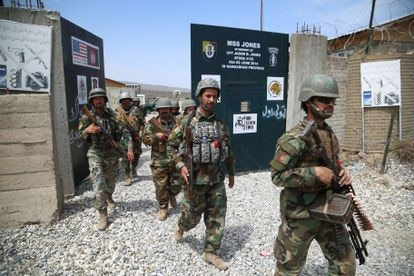 Afghan soldiers take over a former US-controlled military base in Nangarhar province on Wednesday.