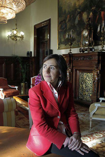 Rosa Aguilar en su despacho en el Ministerio de Medio Ambiente.