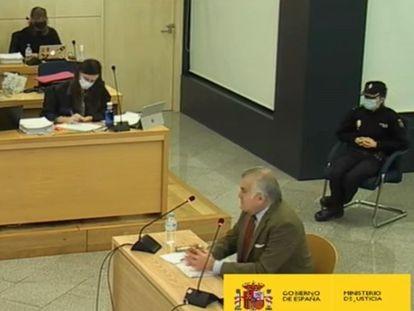 Declaración del extesorero del PP Luis Bárcenas en la Audiencia Nacional, este martes.