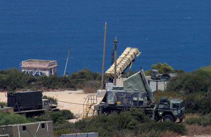 Batería de misiles Patriot desplegada en el norte de Israel.
