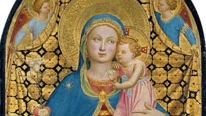 La Virgen de la Humildad, cuadro de Fra Angelico fechado hacia 1433-1435.