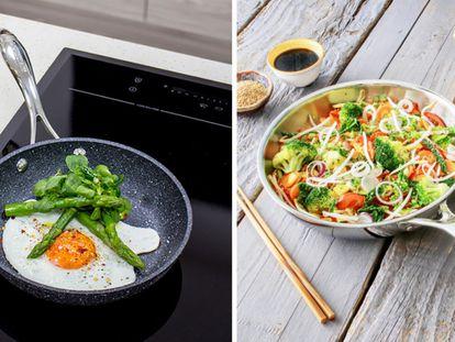 Estos modelos permiten cocinar verduras, carnes o pescados utilizando menos aceite y distribuyendo el calor uniformemente.