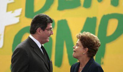 Rousseff y su ministro de Economía, Joaquim Levy.