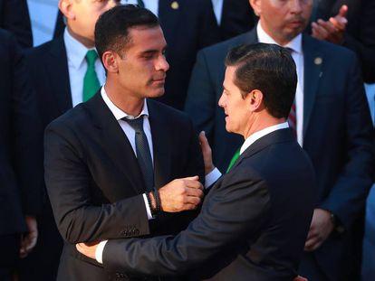 Márquez saluda al presidente Peña Nieto.
