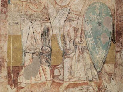 'Ángeles en lucha contra el dragón', de Tubilla del Agua (Burgos) de autor anónimo. Primer tercio del siglo XII.