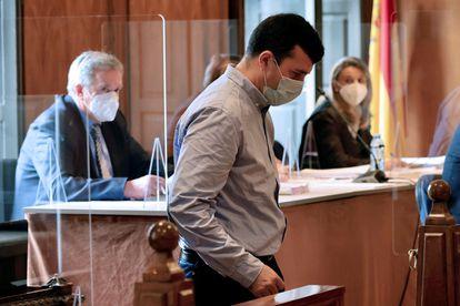 El sacerdote del Colegio Salesianos de Vigo, durante el juicio en la Audiencia de Pontevedra.