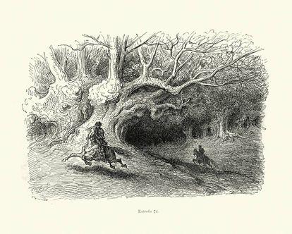 Ilustración de Orlando Furioso a cargo de Gustavo Doré.