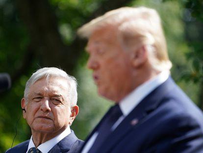 Trump y López Obrador, durante la comparecencia de ambos este miércoles en la Casa Blanca.