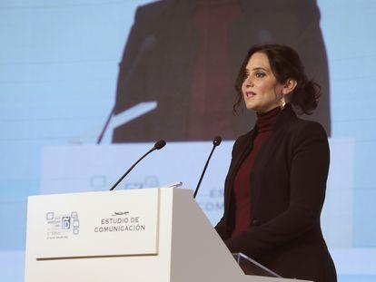 La presidenta de la Comunidad de Madridl, Isabel Díaz Ayuso, interviene en la segunda jornada de la XI edición del Foro Spain Investors Day (SID) que reúne a más de 200 inversores internacionales.