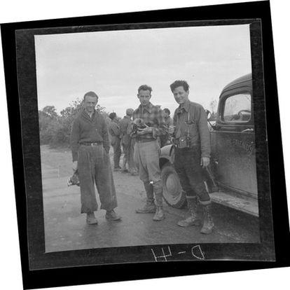Cartier-Bresson con Herbert Kline y Jacques Lemare.