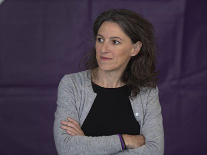 La exconcejal de Valencia María Oliver durante la campaña a los comicios municipales del pasado mayo.