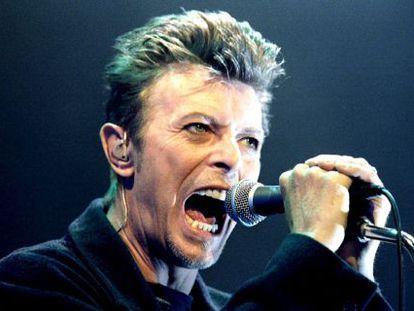 David Bowie, en un concierto en Viena en 1996.