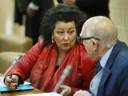 Consuelo Ciscar en el Consell Valencià de Cultura.