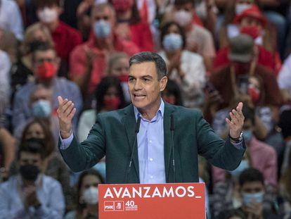 Pedro Sánchez, durante su intervención en la clausura del 40º Congreso Federal del partido.
