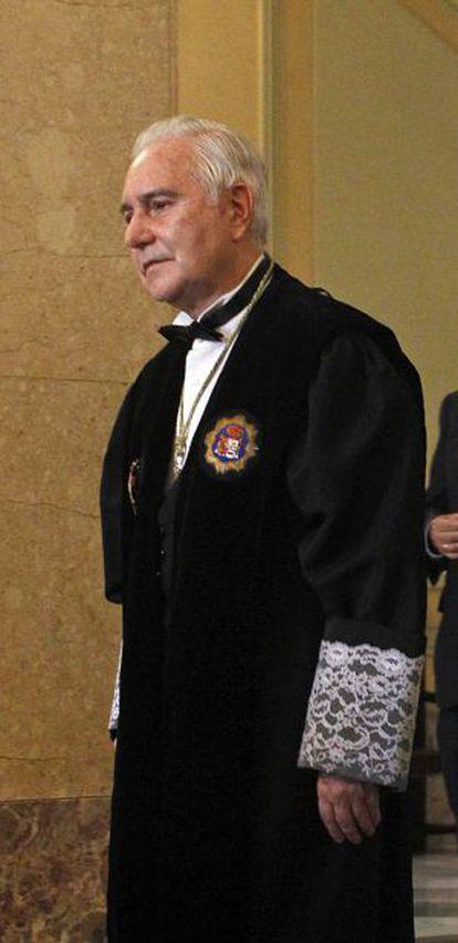 El expresidente del Supremo, Carlos Dívar.