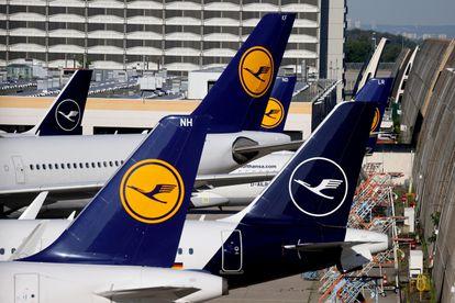 Varios aviones de Lufthansa en el aeropuerto de Frankfurt, el pasado 25 de febrero.