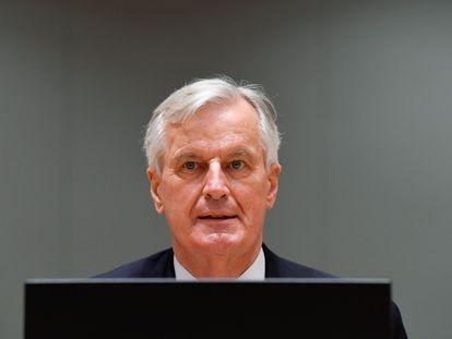 El negociador europeo para el Brexit, Michel Barnier, este martes en Bruselas.