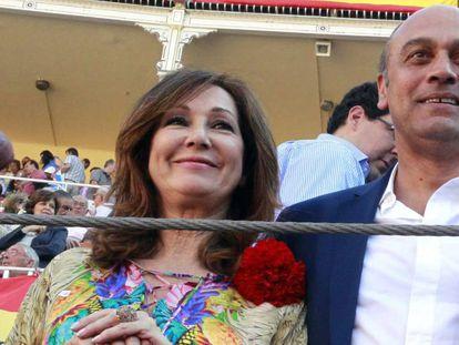 La presentadora Ana Rosa Quintana y el empresario Juan Muñoz Tamara, en una imagen de archivo.