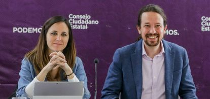Ione Belarra and Pablo Iglesias, in a file image.