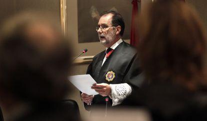 Francisco Javier Vieira, en la apertura del año judicial, en 2013.