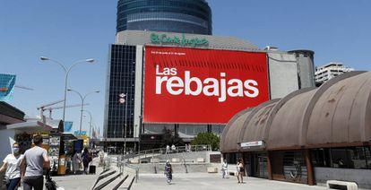 Centro comercial El Corte Inglés de Nuevos Ministerios, en Madrid.