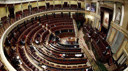 Un momento del pleno celebrado el pasado 25 de marzo en el Congreso de los Diputados en Madrid.
