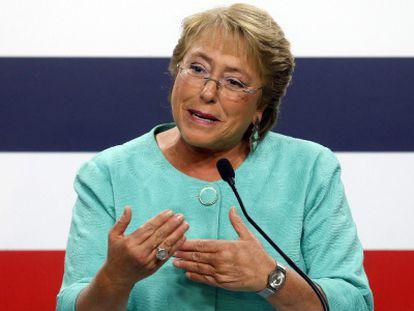 Michelle Bachelet, durante una conferencia de prensa el 17 de diciembre.