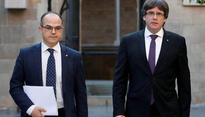 Jordi Turull y Carles Puigdemont, en una imagen del pasado octubre.