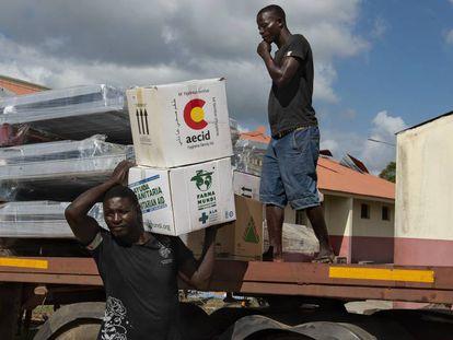 Despliegue del hospital de campaña START de la Cooperación Española en Mozambique.