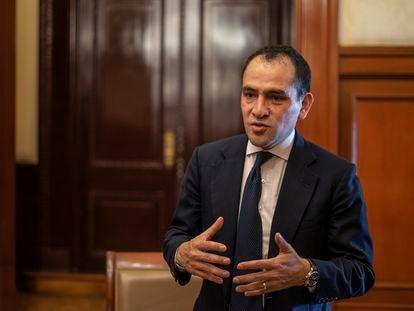 El secretario de Hacienda de México, Arturo Herrera, durante la entrevista en Palacio Nacional en Ciudad de México.