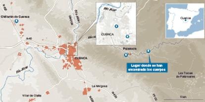 Geografía y cronología del asesinato doble en Cuenca