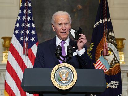 El presidente de EE UU, Joe Biden, durante una conferencia de prensa.