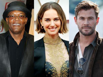 Samuel L. Jackson, Natalie Portman y Chris Hemsworth: tres famosos que han sido veganos y lo han dejado.