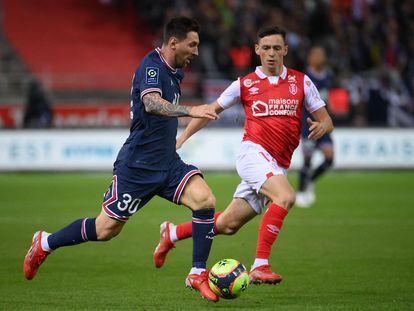 Messi en su primer partido con el PSG este domingo ante el Stade Reims.