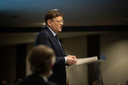 El presidente de la Comunidad Valenciana, Ximo Puig, este martes en Barcelona.