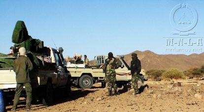 Rebeldes tuareg en una zona sin localizar de Malí.