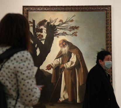 """""""Cristo muerto en la cruz"""" del pintor Francisco de Zurbarán, incluido en la muestra del museo de Bellas Artes de Bilbao sobre la colección del empresario Félix Fernández-Valdés."""