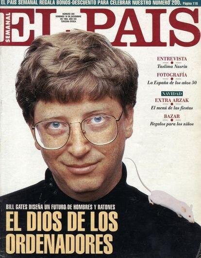Bill Gates, en la portada de El País Semanal en 1994.