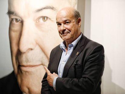 Antonio Resines durante la presentación de sus memorias en Madrid.